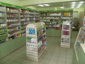 Остров с экономпанелью для аптек
