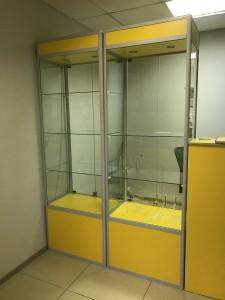 Желтая витрина с профилем